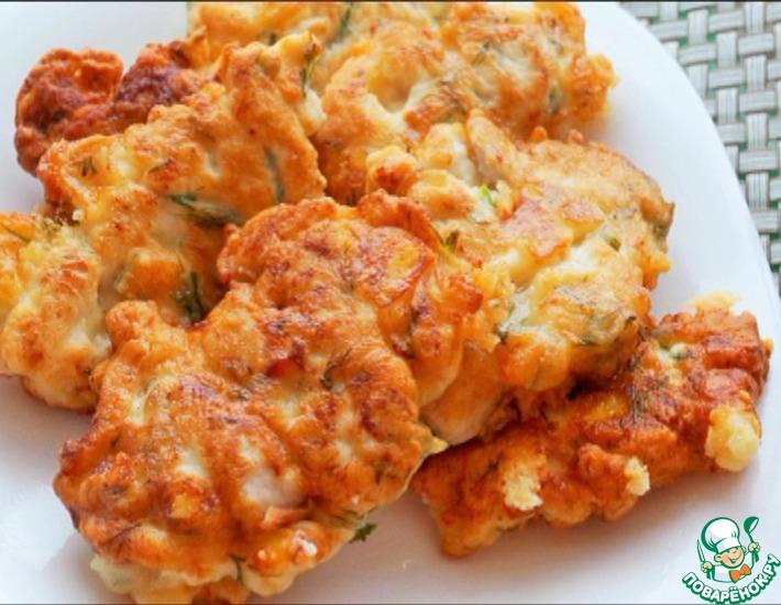 Рецепт: Куриные оладьи с сыром