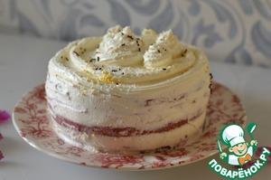 Промазать кремом торт сверху и бока, украсить по желанию, убрать в холодильник на несколько часов.