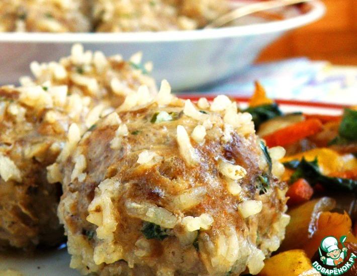 Рецепт: Мясные ёжики от высокой кухни