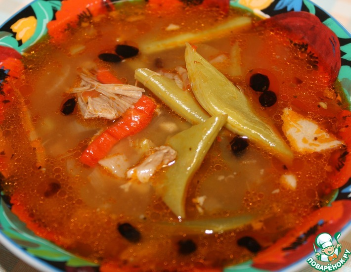 Рецепт: Фасолевый суп по-ливански