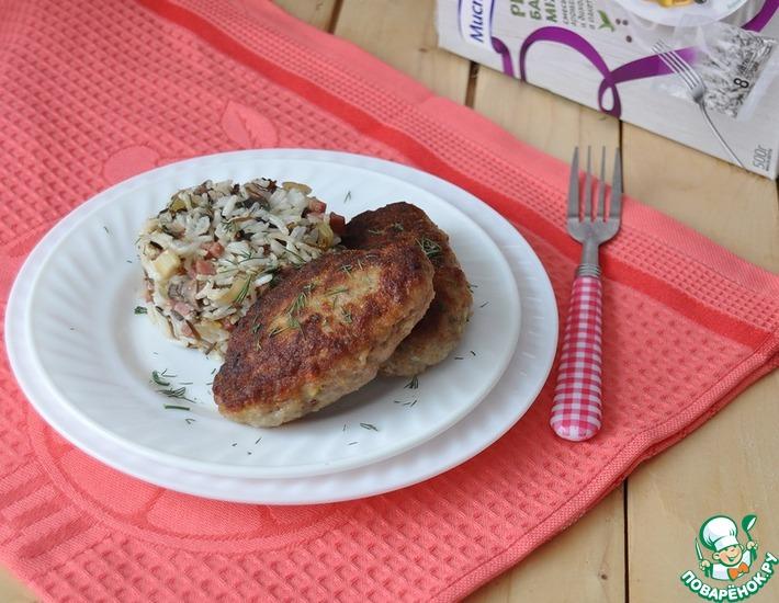 Рецепт: Мясные зразы с рисом и копченостями