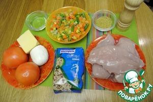 Продукты, необходимые для приготовления этого блюда я представила на фото.
