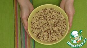 Пока курочка в духовке сварим рис. Данный рис нужно варить в течении 35 минут.