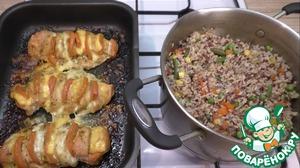 Как только приготовится курочка, блюдо считается готовым! Остается только красиво его подать!