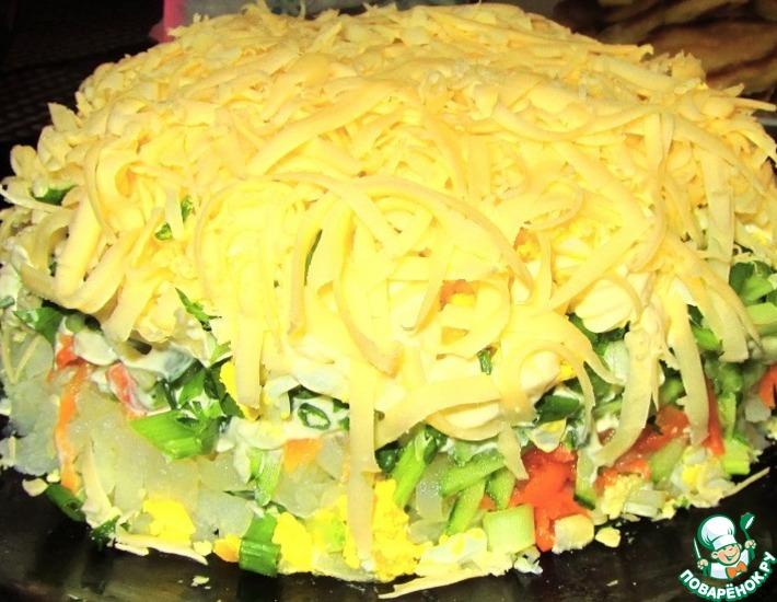 Рецепт: Легкий весенний салат