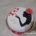 Торт Люблю тебя!