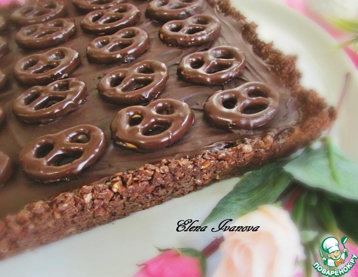 Рецепт: Шоколадный пирог с мини-бретцелями
