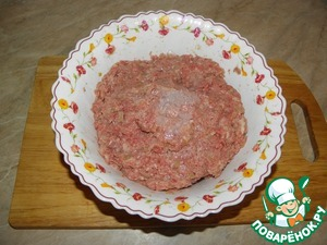 Add ice crumbs in the mince, mix well