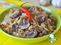 Тушеная капуста с грибами по-заимковски ингредиенты