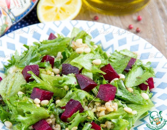 Рецепт: Постный салат со свеклой и булгуром