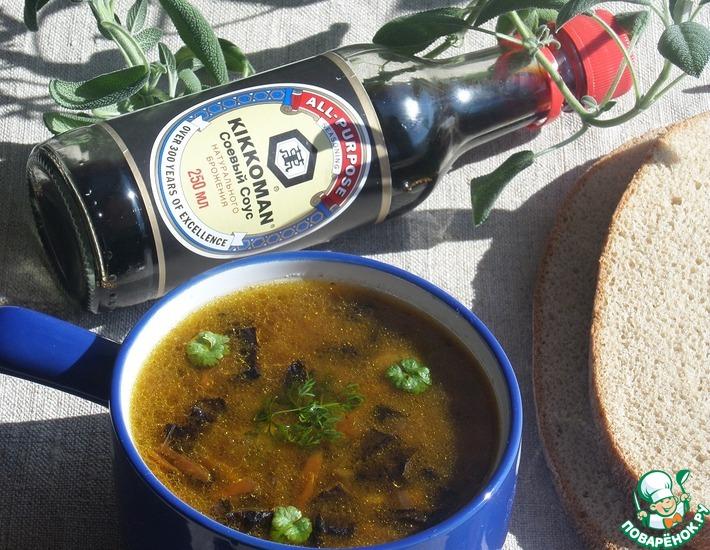 Рецепт: Грибной суп с манными клецками