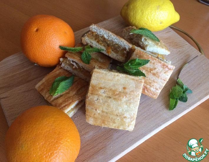 Рецепт: Пирог к чаю Лимонно-апельсиновый