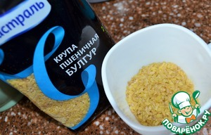 Measure the required amount of bulghur.  I use wheat barley BULGUR from TM Mistral.  Not required to sort, wash. The quality is always great.