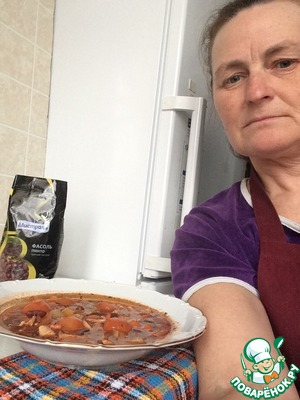 Photo of the author with the prepared dish.