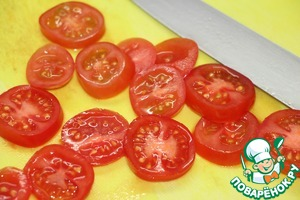 Tomatoes cut into rings