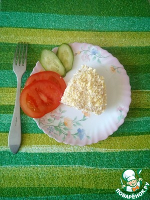 Салат готов! С салатом можно экспеременнтировать, например добавить кукурузу или жареную марковку с луком. Это уже ваша фантазия.