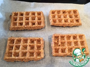 Meanwhile, Apple waffles ready... the Aroma is incredible!