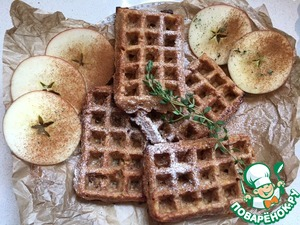 Apple cinnamon waffles - a classic. Very tender and tasty. Scope for further experiments.
