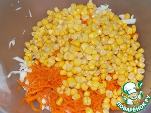 Add the corn without liquid.