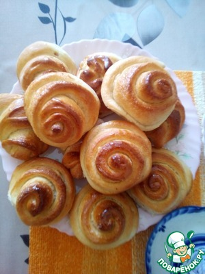 Today cooked rolls