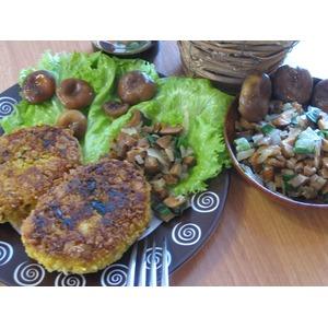 Картофельно-тыквенные зразы с грибами