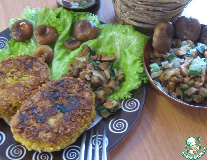 Рецепт: Картофельно-тыквенные зразы с грибами