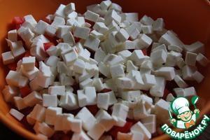 Feta, cut into small cubes.