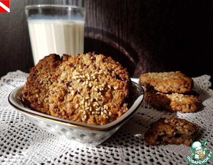 Рецепт: Печенье Польза злаков