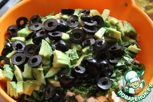 Olives cut into rings.