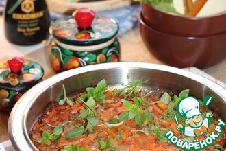 Рецепт: Овощное соте с чесночным соусом