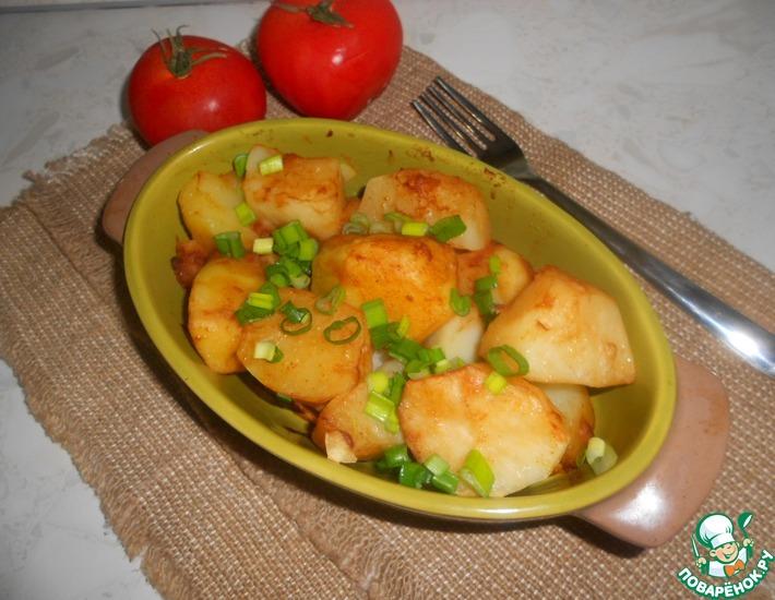Рецепт: Картофель в горчично-соевом соусе