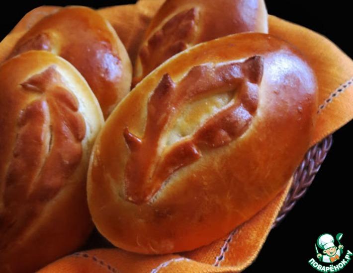 Рецепт: Пирожки с яблоками из пушистого теста