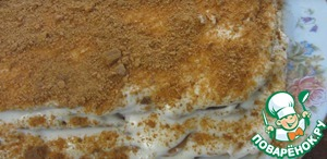 From scraps and remaining dough make crumbs in a blender or with a rolling pin. Sprinkle with crumb cake and allow to soak at least 6 hours.