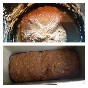 Добавить масло и продолжать вымешивать тесто пока оно полностью не впитает в себя масло. Тесто к рукам не липнет. Оставить тесто в теплом месте на час до увеличения в объеме. Затем тесто обмять и выложить в форму предварительно смазанную растительным маслом. Дать подняться хлебу в форме ( минут 20), и отправить в духовку при 190 гр до готовности. Проверить сухой деревянной шпажкой. Готовый хлеб вытащить из формы, и полностью остудить.