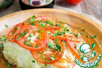 Рецепт: Рыба, запеченная в листьях пекинской капусты