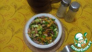 Смешиваем все ингредиенты. Я больше ничем не приправляю, т. к. морковь уже с приправами. Поливаем маслом. Готово! Приятного аппетита!