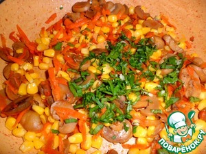 And at the last minute, add chopped parsley and if needed, salt and half of the garlic cloves.  Stir, turn the heat off.