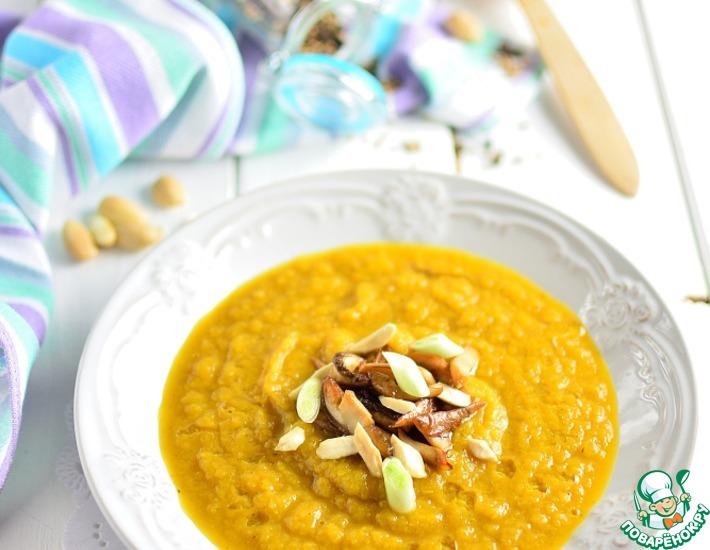 Рецепт: Капустный суп-пюре с белыми грибами