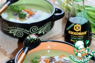 Рецепт: Суп-пюре с брокколи и чечевицей