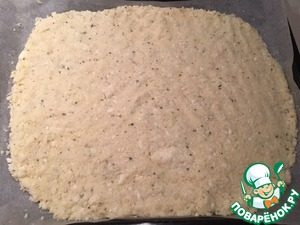 Mix well and place on baking paper. You can make your pizza round or any one you like, shape. Good shape and put them in the oven to Browning.