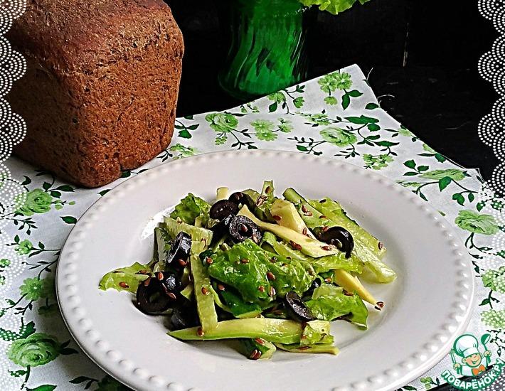 салат с языком и семя льна рецепты фото
