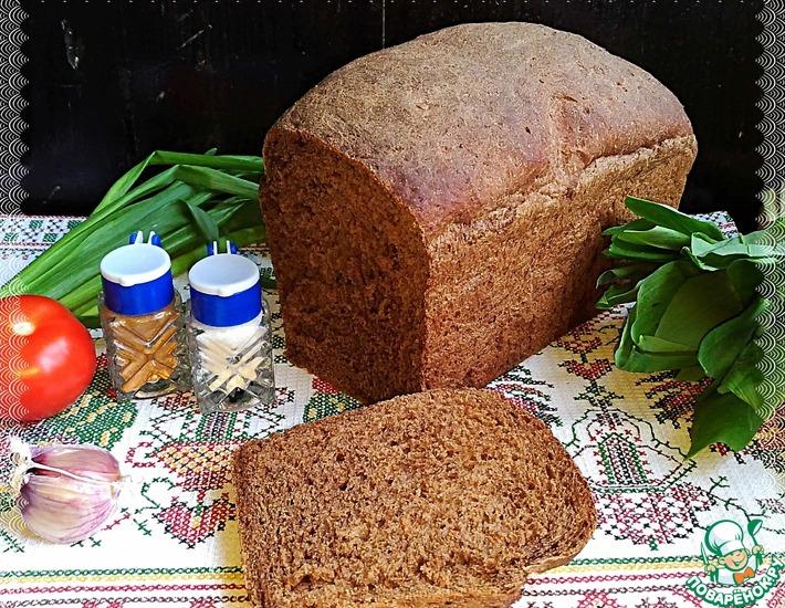 Рецепт: Хлеб Постный черемухово-солодовый