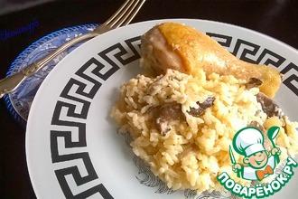 Рецепт: Курица в сметане с рисом