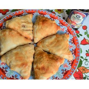 Пирожки слоеные с картофелем