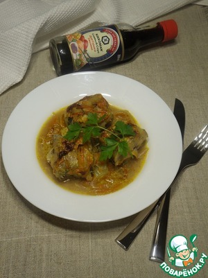 Serve fish with the vegetables, add the herbs.