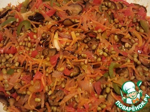 Saute all for another minute and turn off heat. Wonderful, flavorful, nutritious, vibrant dish is ready!