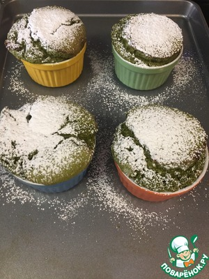 Ready souffle sprinkle with powdered sugar and serve immediately.