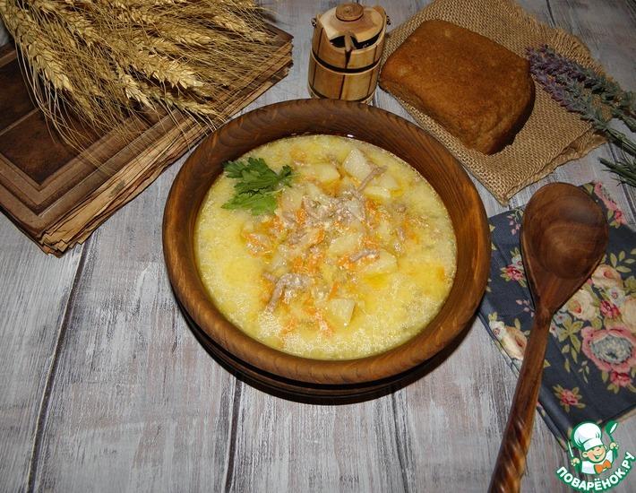 Рецепт: Суп мясной Молочно-сырный