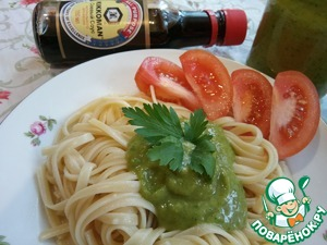 Or just cook your favorite pasta (spaghetti, nests, horns, curls, etc.) Season with a delicate sauce of avocado and enjoy a delicious combination!  Angel you for a meal!