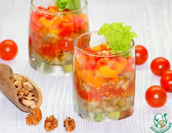 Рецепт: Овощные веррины с грецкими орехами Полосатики